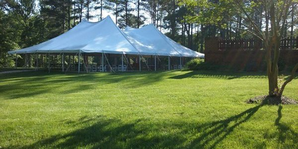 pole Tents from Ground