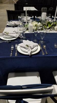 royal blue linens
